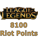 League of Legends 8100 Riot Points